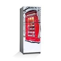 Artikel Londra Telefon Kulubesi Buzdolabı Stickerı Bs-049