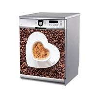 Artikel Kalp Kahve Bulaşık Makinası Stickerı Bs-145