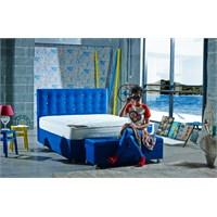 Mattrest Retro Baza&Başlık Set Çift Kişilik 140X190 Mavi