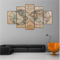 Ritmo Canvas Dünya Haritası Canvas Tablo