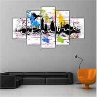 Ritmo Canvas Grafik İstanbul Canvas Tablo