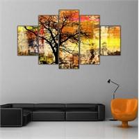 Ritmo Canvas Modern Sanat Ve Ağaç Canvas Tablo