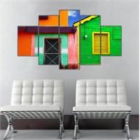 Ritmo Canvas Renkli Evler Canvas Tablo