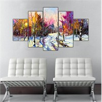 Ritmo Canvas Kış Manzarası Canvas Tablo