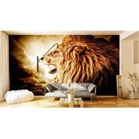 Iwall Resimli Aslan Duvar Kağıdı 180X130