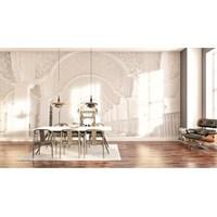 Iwall Resimli Beyaz Sütunlar Duvar Kağıdı 180X130