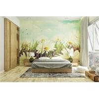 Iwall Resimli Çiçekler Duvar Kağıdı 370X180