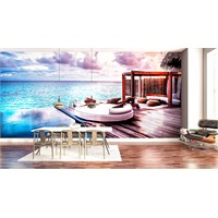 Iwall Resimli Deniz Ve Sandal Duvar Kağıdı 250X180