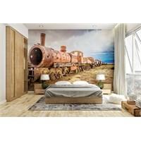 Iwall Resimli Eski Tren Duvar Kağıdı 250X180
