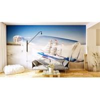 Iwall Resimli Kumsalda Şişe Duvar Kağıdı 250X180