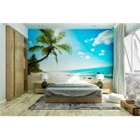 Iwall Resimli Palmiye Ve Kumsal Duvar Kağıdı 250X180