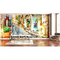 Iwall Resimli Renkli Şehir Duvar Kağıdı 180X130