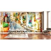 Iwall Resimli Renkli Şehir Duvar Kağıdı 250X180