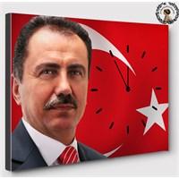 Artredgallery 40X50 Muhsin Yazıcıoğlu Saatli Tablo