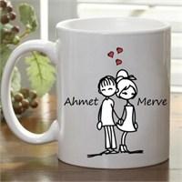 Kişiye Özel Aşık Çiftler Kupa