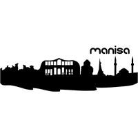 Sticker Masters Manisa Silueti Duvar Sticker