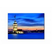 Clock Mango Multi Color Kanvas Tablo 60X40 Cm