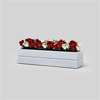 Onlywood Flower Saksı Beyaz