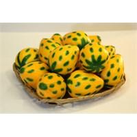 Edmis Doğal Meyve Kokulu Meyve Sabunu Sarı Kelek Sepeti