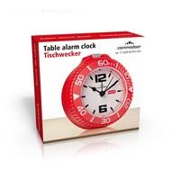 Gold Dekor Masa Saati Alarmlı Kırmızı