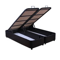 Çift Kişilik Sandıklı Siyah - Venge Deri Baza 160X200 Siyah
