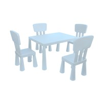Mini Çocuk Masa-Sandalye Seti - Mavi