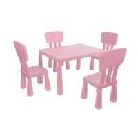 Mini Çocuk Masa-Sandalye Seti - Pembe