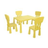 Mini Çocuk Masa-Sandalye Seti - Sarı