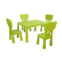 Mini Çocuk Masa-Sandalye Seti - Yeşil