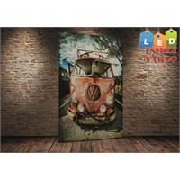 Tablo İstanbul Wolksvagen Camper Klasik Led Işıklı Kanvas Tablo 45 X 65 Cm