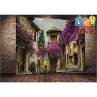 Tablo İstanbul Evler Ve Çiçekler Led Işıklı Kanvas Tablo 45 X 65 Cm