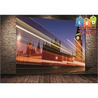 Tablo İstanbul Londra Işıklar Led Kanvas Tablo 45 X 65 Cm