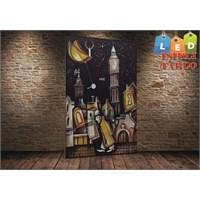 Tablo İstanbul Soyut Düşünce Led Işıklı Kanvas Tablo 45 X 65 Cm
