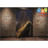 Tablo İstanbul Golden Gate Dikey Köprü Led Işıklı Kanvas Tablo 45 X 65 Cm