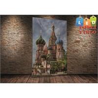 Tablo İstanbul Moskova Led Işıklı Kanvas Tablo 45 X 65 Cm