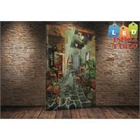 Tablo İstanbul Cafe Sokak Led Işıklı Kanvas Tablo 45 X 65 Cm
