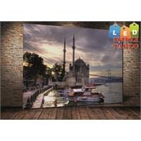 Tablo İstanbul Ortaköy Gündüz Led Işıklı Kanvas Tablo 45 X 65 Cm