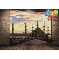 Tablo İstanbul Sultanahmet Led Işıklı Kanvas Tablo 45 X 65 Cm