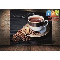 Tablo İstanbul Kahve Fincan Led Işıklı Kanvas Tablo 45 X 65 Cm