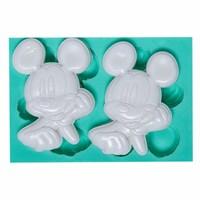 Kurdelya Micky Mouse 2'Li Silikon Kalıp