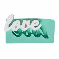 Kurdelya Elyazısı Love Silikon Kalıp