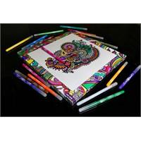 Mor İnek Kanvas Mandala Boyama Duvar Tablosu - Platinum Seri Kb-P03
