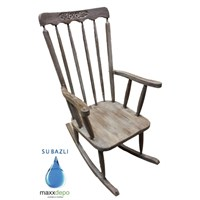 Maxxdepo Crocus Grey Wash Sallanan Sandalye