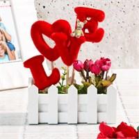 İhouse Aşk Temalı Dekoratif Hediyelik Yapay Çiçek 16X8x22cm