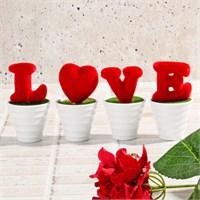 İhouse Aşk Temalı Dekoratif Hediyelik Yapay Çiçek 6X5x12cm