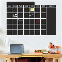 Dekorjinal Aylık Program Yazılabilir Yaz Sil Sticker Ys20