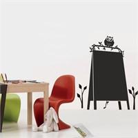 Dekorjinal Baykuşlu Pano Yazılabilir Yaz Sil Sticker Ys51