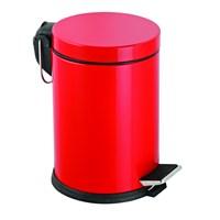 Baneva Mikro Pedallı Çöp Kovası Kırmızı 3 Litre