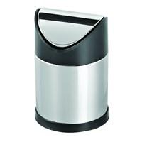 Baneva Plastik Sallanır Kapak Çöp Kovası Krom Kapak 12 Litre