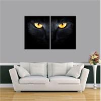 Ritmo-Siyah Kedi Kanvas Tablo